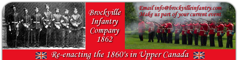 Brockville Infantry Company 1862 Header Image